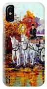 Autumn Carriage IPhone Case