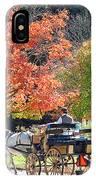 Autumn Carriage Ride IPhone Case