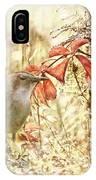 Autumn Catbird IPhone Case