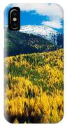 Autumn Color Larch Trees In Pine Tree IPhone Case