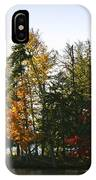 Autumn Color On The Fulton Chain Of Lakes IPhone Case