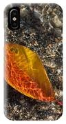 Autumn Colors And Playful Sunlight Patterns - Cherry Leaf IPhone Case