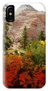 Autumn Colors In Zion's Highlands-ut IPhone Case