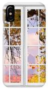 Autumn Cottonwood Tree Longs Peak White Window View IPhone Case