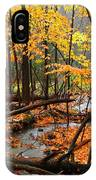 Autumn Creek In The Rain IPhone Case