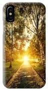 Autumn Fall Park IPhone Case