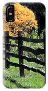 Autumn Fence And Shadows IPhone Case