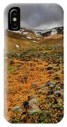 Autumn Foliage And Snowcapped Mountain IPhone Case