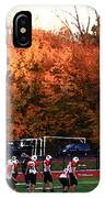 Autumn Football With Dry Brush Effect IPhone Case