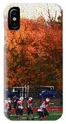 Autumn Football With Sponge Painting Effect IPhone Case