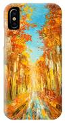 Autumn Forest Impression IPhone Case