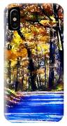 Autumn Forest Road V6 IPhone Case