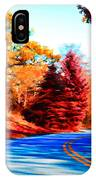 Autumn Forest Road V7 IPhone Case