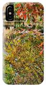 Autumn Lake And Swan IPhone Case