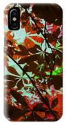 Autumn Leaf Abstract IPhone Case