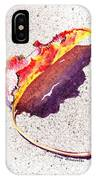 Autumn Leaf On Fire IPhone Case