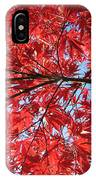 Autumn Leaves And Blue Sky IPhone Case