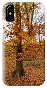 Autumn Leaves Common Wood  IPhone Case