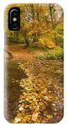 Autumn Leaves In Burn Vertical IPhone Case