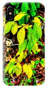 Autumn Leaves In Green And Yellow IPhone Case