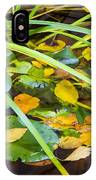 Autumn Leaves In Pond IPhone Case