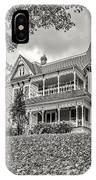 Autumn Mansion Bw IPhone Case