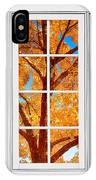 Autumn Maple Tree View Through A White Picture Window Frame IPhone Case