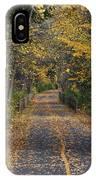 Autumn On Bike Trail  IPhone Case