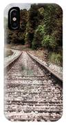 Autumn On The Railroad Tracks IPhone Case