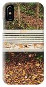 Autumn Park Bench IPhone Case