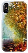 Autumn Park - Palette Knife Oil Painting On Canvas By Leonid Afremov IPhone Case