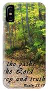 Autumn Path With Scripture IPhone Case