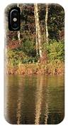 Autumn Pond Sunset With Swan IPhone Case