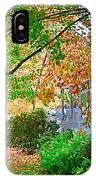 Autumn Porch IPhone Case