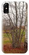 Autumn Red Field Maine  IPhone Case