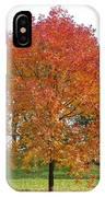 Autumn Red Tree IPhone Case