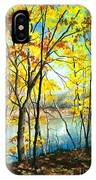Autumn River Walk IPhone Case