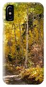 Autumn Road - Tipton Canyon - Casper Mountain - Casper Wyoming IPhone Case