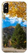 Autumn Scene Framed By Aspen IPhone Case by Cascade Colors