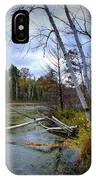 Autumn Scene Of Along The Shore Of The Platte River In Michigan IPhone Case