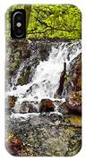 Autumn Scene With Waterfall In Forest IPhone Case