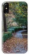 Autumn Side Walk IPhone Case