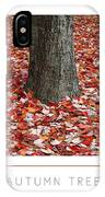 Autumn Tree Poster IPhone Case
