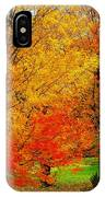Autumn Trees By Barn IPhone Case