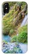 Autumn Valley Waterfalls IPhone Case