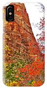 Autumn View Along Zion Canyon Scenic Drive In Zion National Park-utah IPhone Case