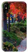 Autumn Walk In Grants Pass IPhone Case