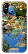 Autumn Water Lily Reflections  IPhone Case