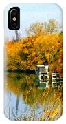 Autumn Weekend On The Delta IPhone Case