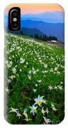 Avalanche Lily Field IPhone Case